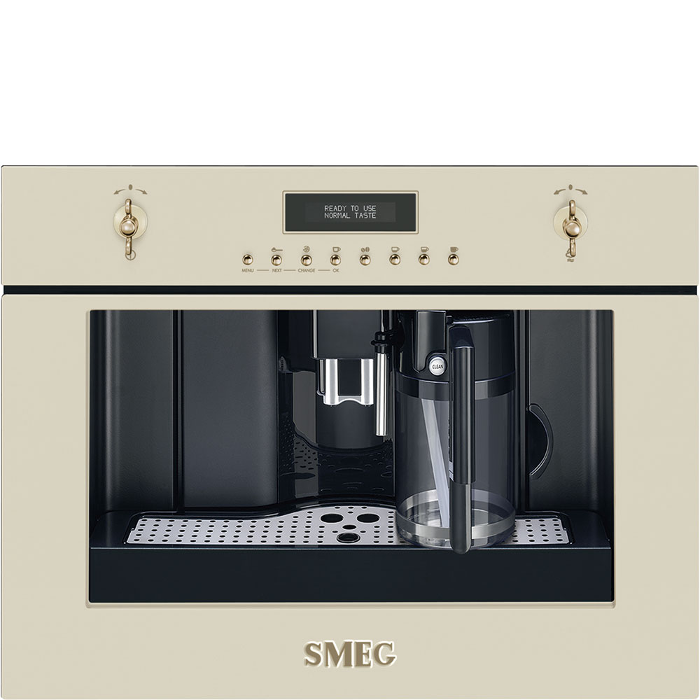 Smeg CMS8451P Einbau-Kaffeevollautomat Creme