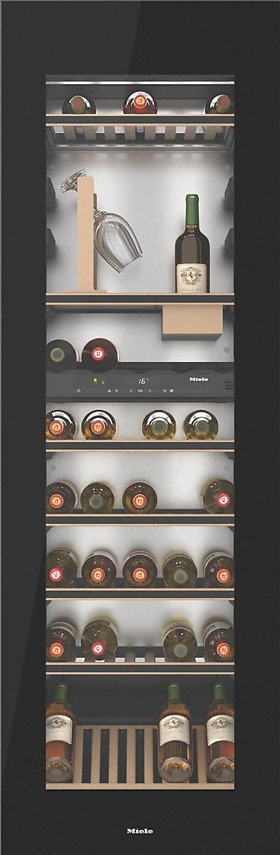 Miele KWT 6722 IGS OBSW Einbau-Weintemperierschrank Obsidianschwarz