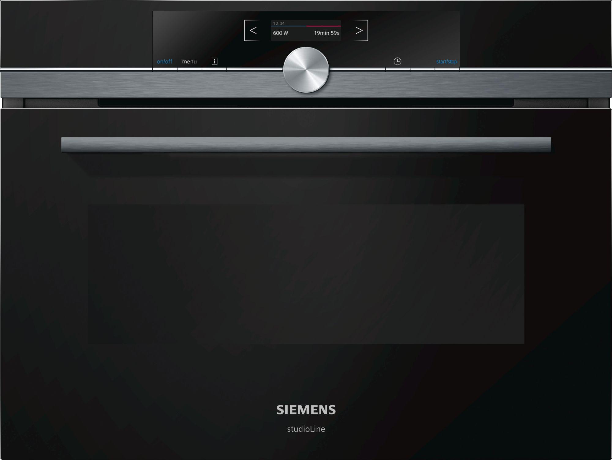 Siemens CF834AGB1 Einbau-Mikrowelle Schwarz