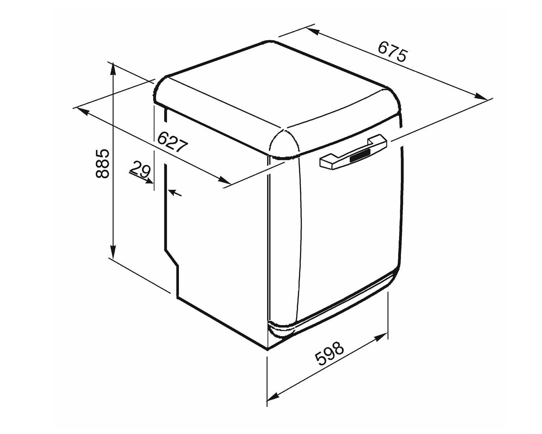 SMEG LVFABCR2 Stand-Geschirrspüler Creme