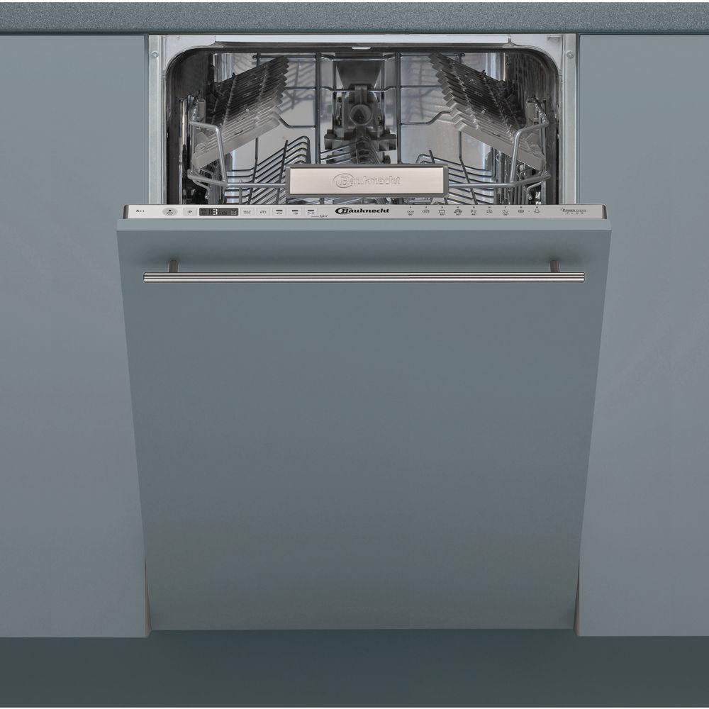Bauknecht BSIO 3T223 PE X Vollintegrierter Geschirrspüler Edelstahloptik