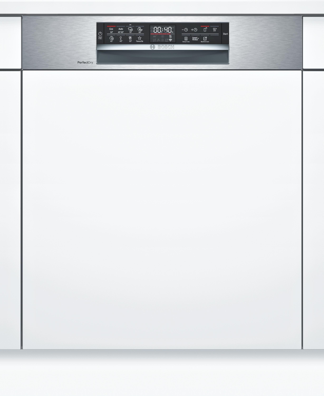 Bosch SMI6ZDS49E Teilintegrierter Geschirrspüler Edelstahl
