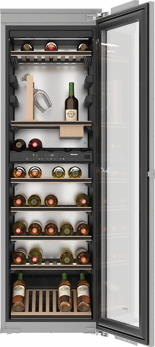 Miele KWT 6722 IS Einbau-Weintemperierschrank Edelstahl
