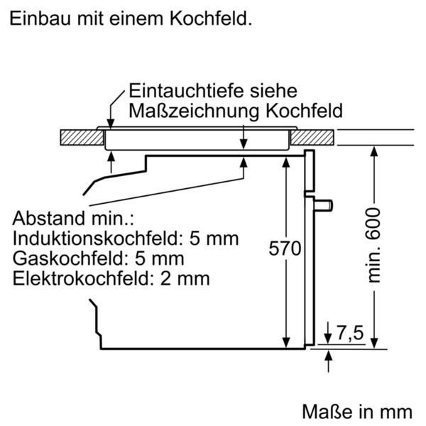 Bosch HET278YS0 Einbau-Herd Edelstahl