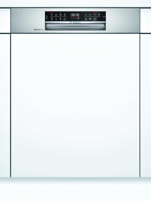 Bosch SMI6ECS57E Teilintegrierter Geschirrspüler Edelstahl