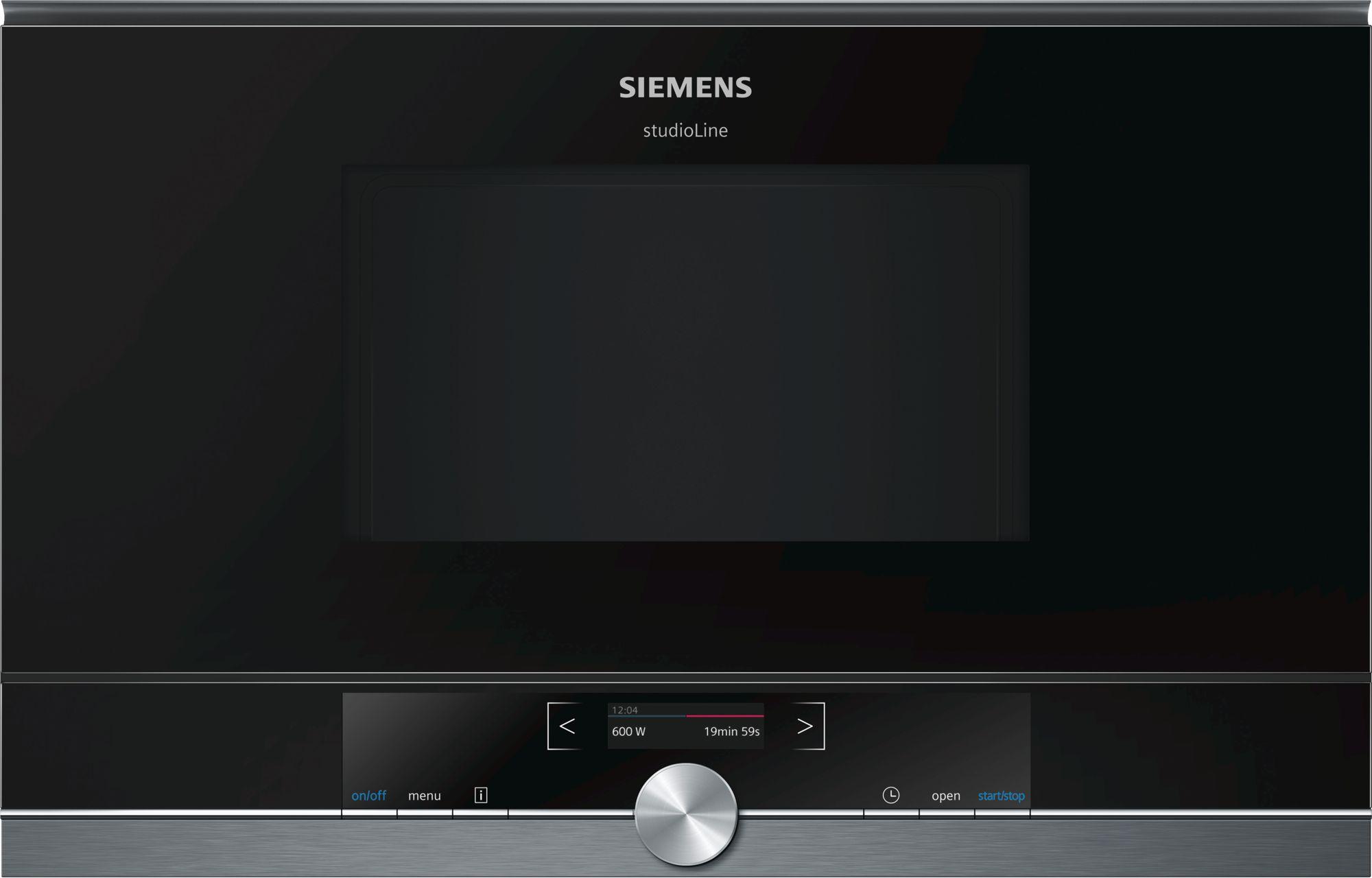 Siemens BF834LGB1 Einbau-Mikrowelle Schwarz