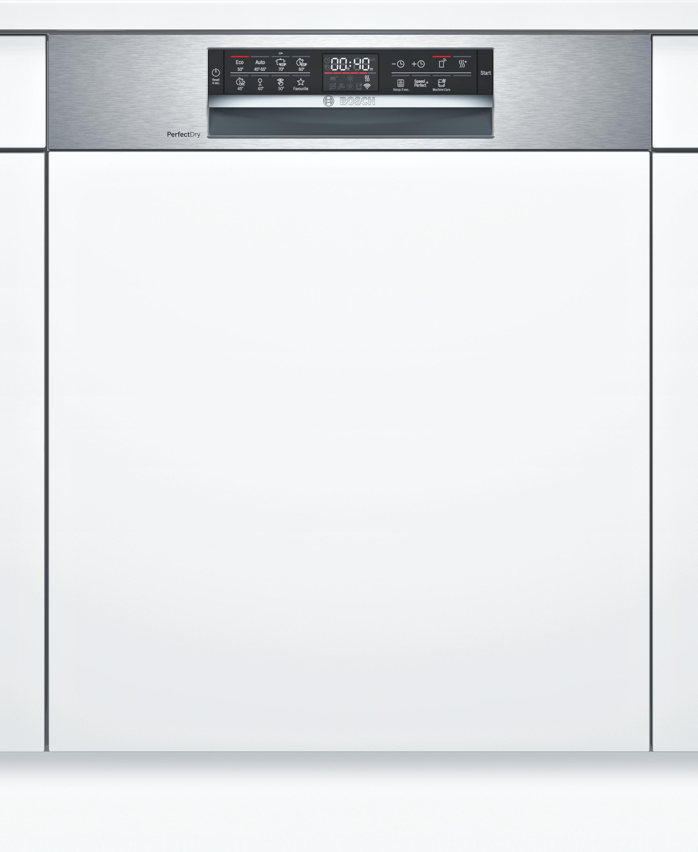 Bosch SMI6ZCS49E Teilintegrierter Geschirrspüler Edelstahl