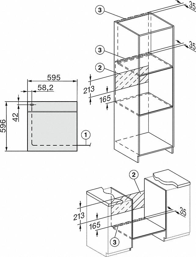 Miele H 2265-1 E ACTIVE Einbau-Herd Brillantweiß